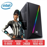 PC Gamer M24 Intel I5 6600 8GB SSD 240GB GTX 1650 4GB 500W 80 plus