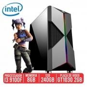 PC Gamer M416 Intel I3 9100F, 8GB, SSD 240GB, GT 1030 2GB, 400W 80 PLUS