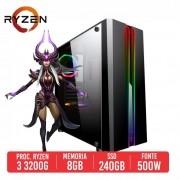 PC Gamer M500 AMD Ryzen 3 3200G 8GB SSD 240GB 500W 80 PLUS