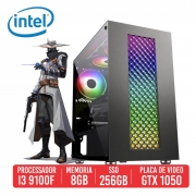 PC Gamer VSS Intel I3 9100F 8GB SSD 256GB GTX 1050 Ti 4GB 500W 80 Plus