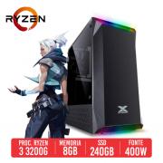 PC Gamer P1911 AMD Ryzen 3 3200G, 8GB, SSD 240GB , 400W 80 Plus