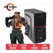 PC Gamer R1895 AMD Athlon 3000G 8GB SSD 128GB 500W