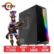 PC Gamer Skorpion AMD Ryzen 3 3200G 8GB SSD 240GB 500W