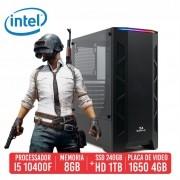 PC Gamer Sks Intel 10400F 8GB SSD 240GB + HD 1TB GTX 1650 4GB 500W