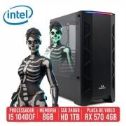 PC Gamer SKS Intel I5 10400F 8GB SSD 240GB + HD 1TB  RX 570 4GB 500W 80 plus