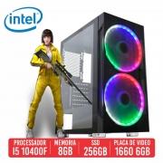 PC Gamer Stinger Intel I5 10400F 8GB SSD 256GB GTX 1660 SUPER 6GB 600W