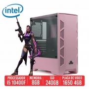 PC Gamer UMP45 Intel I5 10400F 8GB SSD 256GB GTX 1650 4GB 600W