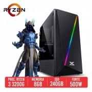 PC Gamer UMP9 AMD Ryzen 3 3200G 8GB SSD 240GB 500W 80 Plus