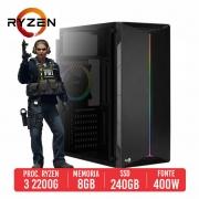 PC Gamer Uzi AMD Ryzen 3 2200G 8GB SSD 240GB 400W