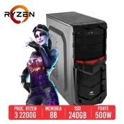 PC Gamer Uzi AMD RYZEN 3 2200G, 8GB, SSD 240GB, 550W