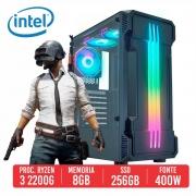 PC Gamer Uzi AMD Ryzen 3 2200G 8GB SSD 256GB 400W