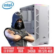 PC Gamer Winchester Intel I3 9100f, 8GB, SSD 240B, RX 570 4GB, 500W 80 PLUS
