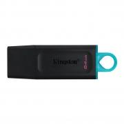 Pen Drive Kingston 64gb DataTraveler Exodia 64GB Preto/Azul-DTX/64GB
