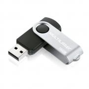 Pen Drive Multilaser Twist 16GB, Preto e Prata - PD588