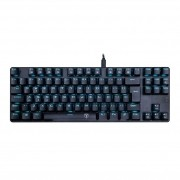 Teclado Gamer Mecânico T-Dagger Bora, Switch Azul, Single Color, led Ice Blue, T-TGK313-BL