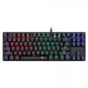 Teclado Gamer Mecânico T-Dagger Bora, Switch Brown, RGB, Black, ABNT2, T-TGK315-BR