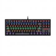 Teclado Mecânico Gamer Redragon Daksa TKL, LED Rainbow, Switch Outemu Red, Anti-Ghosting, ABNT2, Preto - K576R-1 (PT-RED)