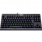 Teclado Mecânico Gamer Redragon Dark Avenger K568 Rainbow, Switch Blue, ABNT2, Black