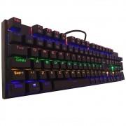 Teclado Mecânico Gamer Redragon Rudra, LED Rainbow, Switch Outemu Blue, ABNT2 - K565R-1