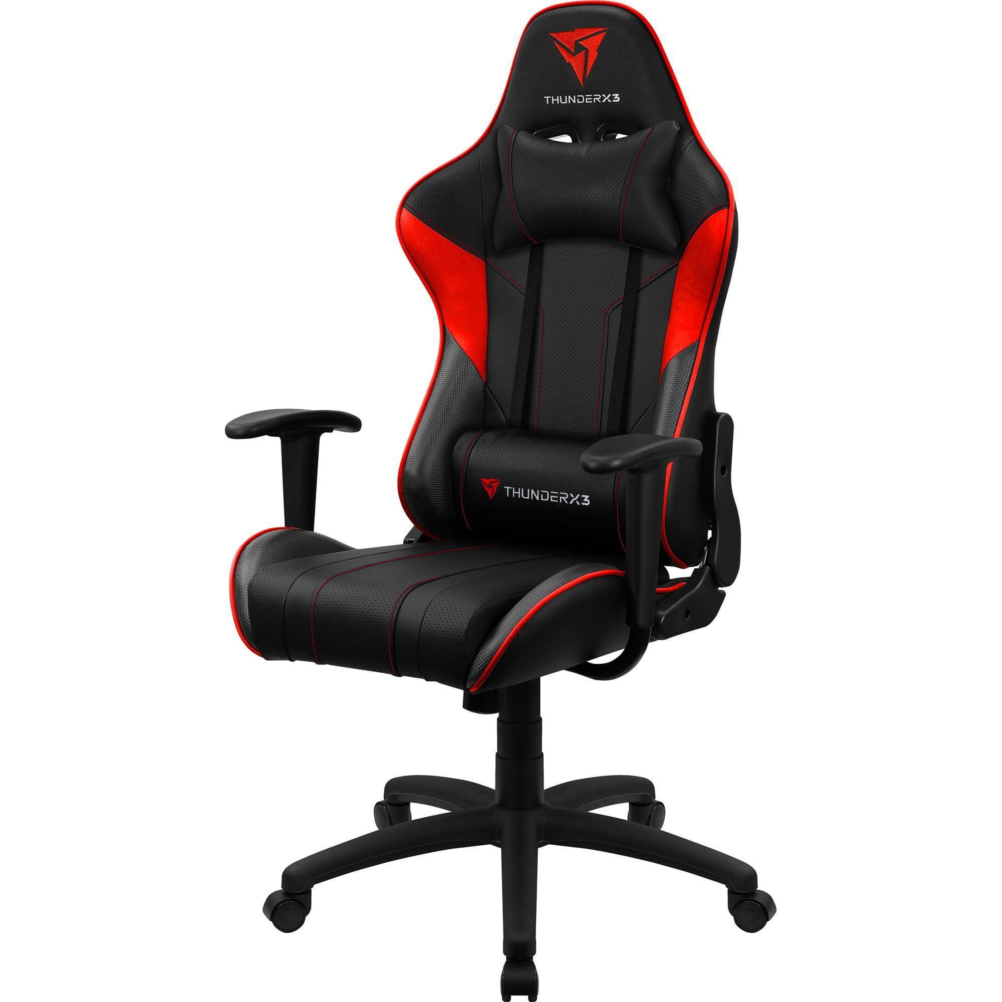 Cadeira Gamer EC3 Preta e vermelha THUNDERX3