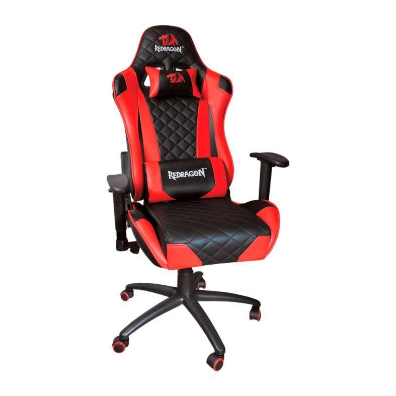Cadeira Gamer Redragon King Of War preta e vermelha -  C601-BR