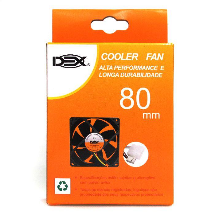 COOLER 80MM PRETO C/ CONECTORES DX-8C