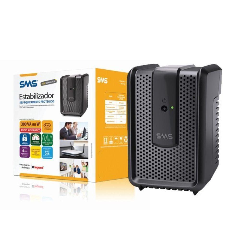 Estabilizador SMS Revolution Speedy 300va Bivolt Usp300bi 115 15970