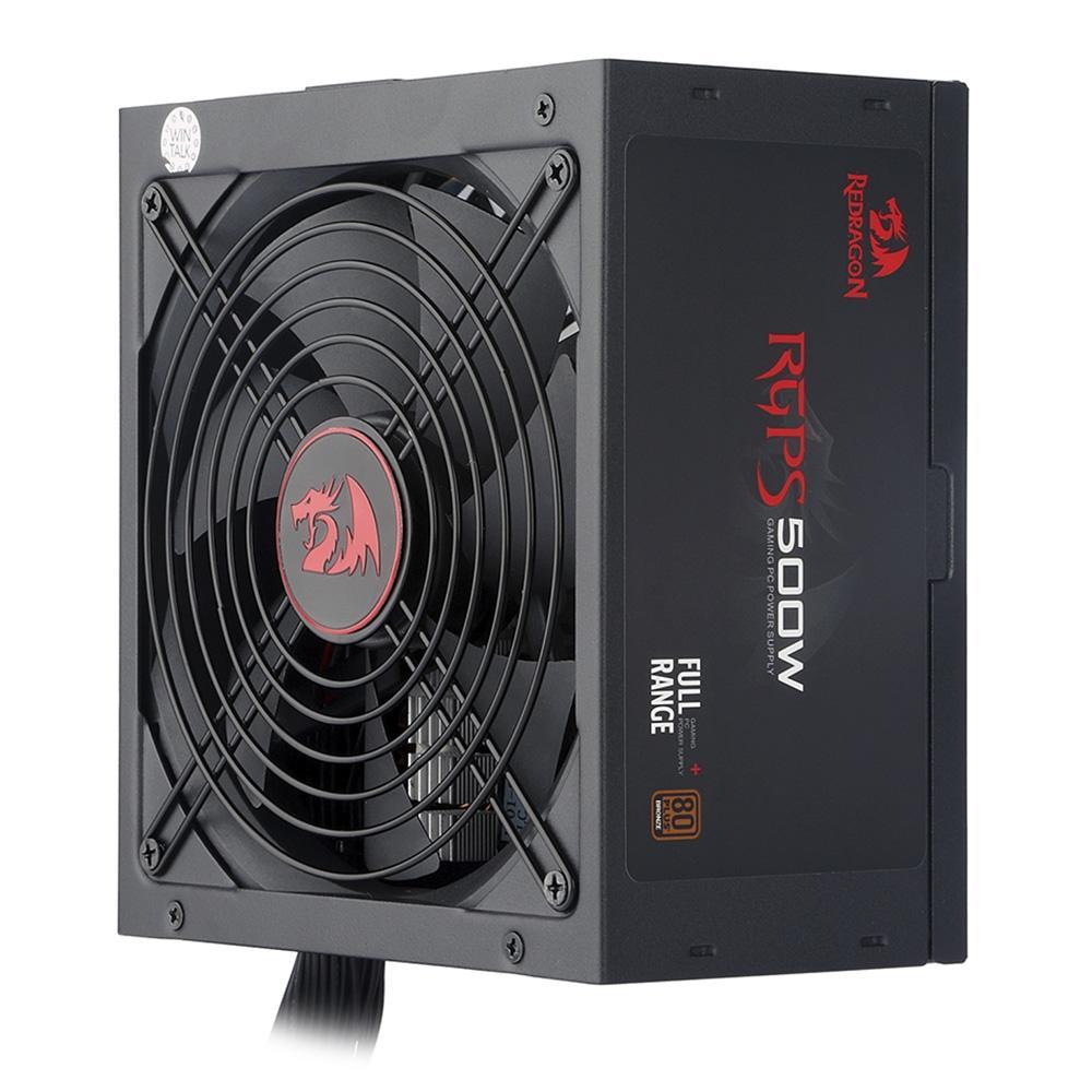 Fonte Gamer Redragon 500W, 80 Plus Bronze - RGPS500W