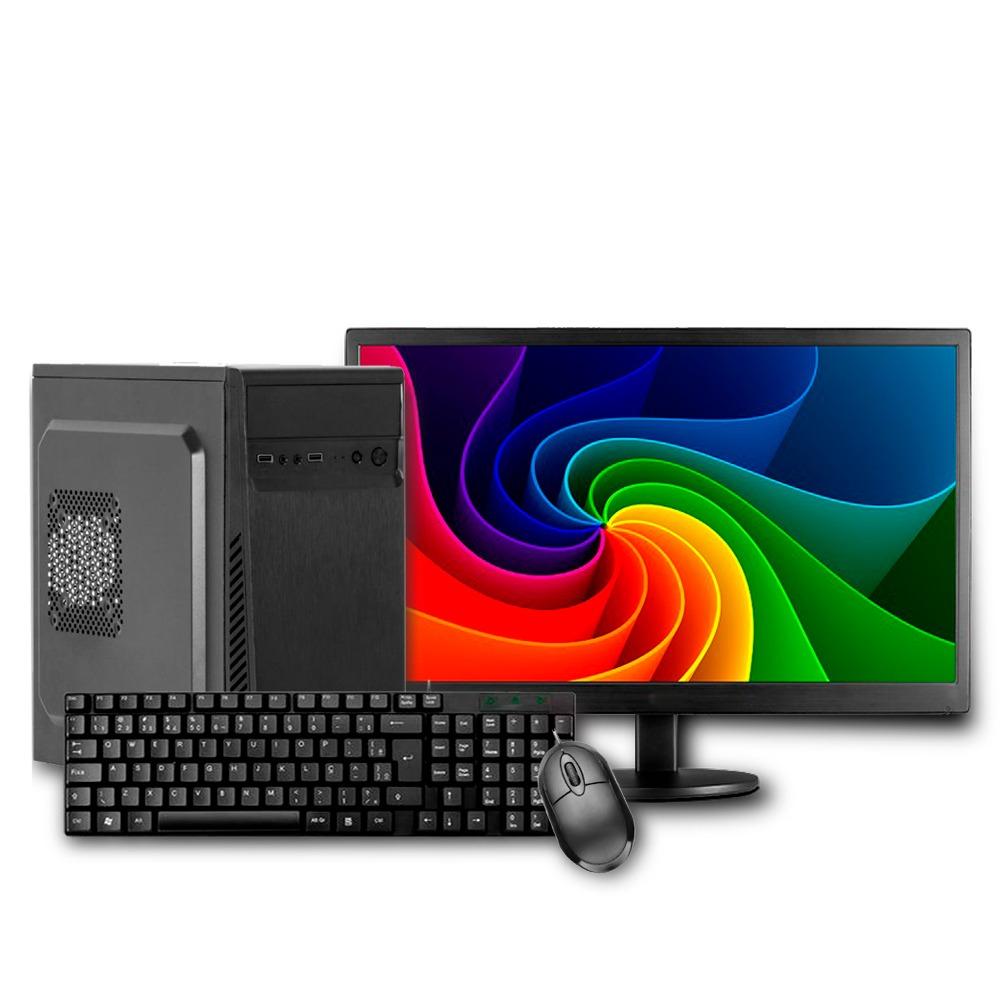 Computador Intel I3 10105F 4GB SSD 120GB + Monitor 18,5 + Teclado e Mouse