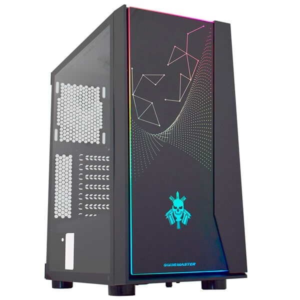 Gabinete Gamer K-Mex Bope, Mid Tower, LED Rainbow, Lateral em Vidro - CG20RXRH001CB0X