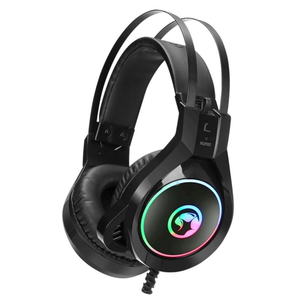 Headset Gamer Marvo HG8901, Com Fio, Black, RGB, HG8901