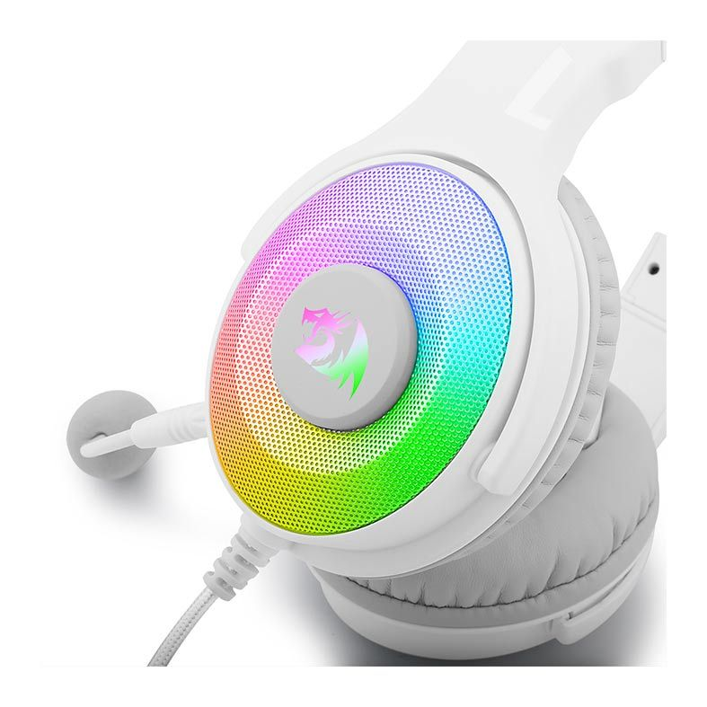 Headset Gamer Redragon Pandora 2 Branco Rgb - H350W-RGB-1