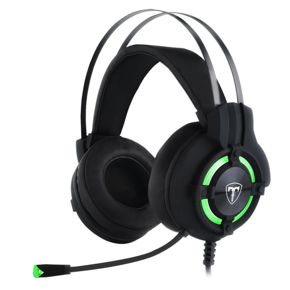 Headset Gamer T-Dagger Andes, Preto e Verde T-RGH300