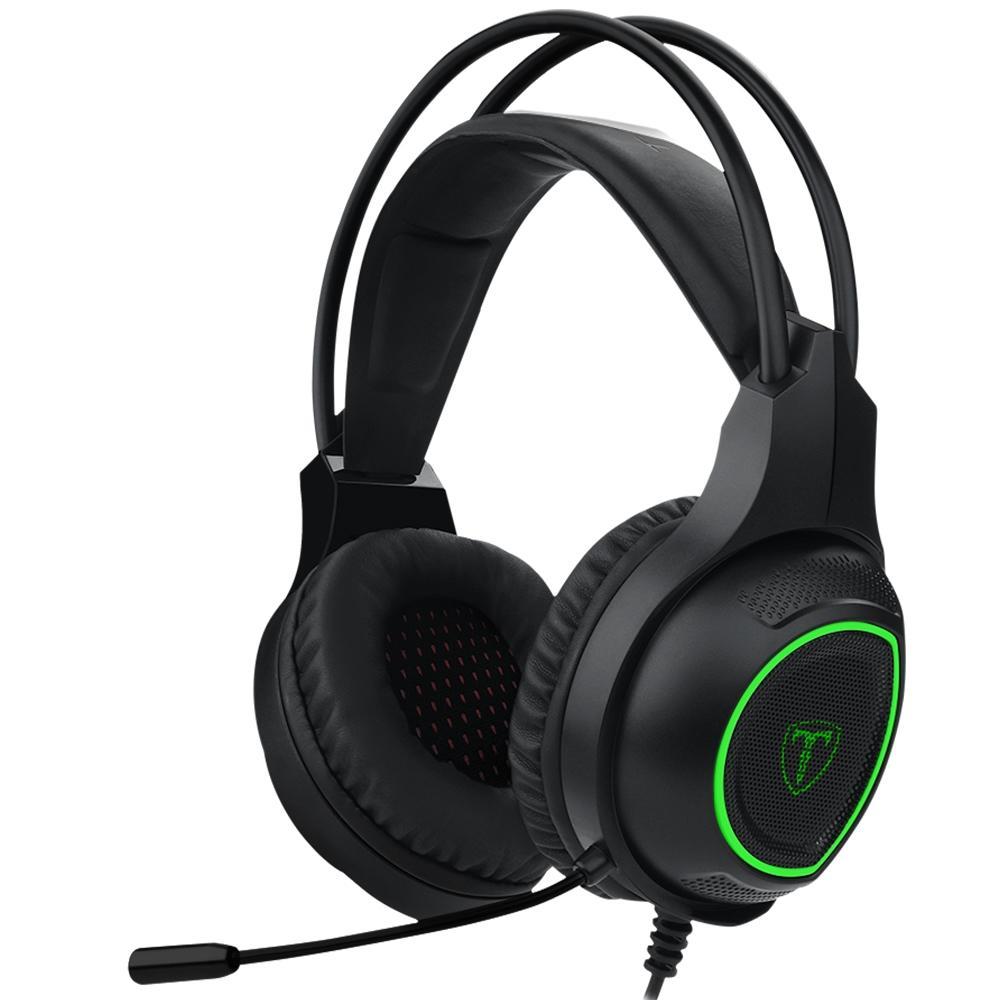 Headset Gamer T-Dagger Atlas, Drivers 40mm, Preto e Verde - T-RGH201