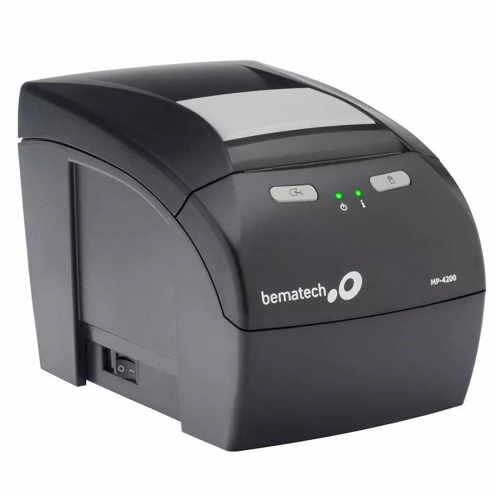 Impressora Não Fiscal Termica Bematech MP-4200 Th Serrilha E Guilhotina Usb