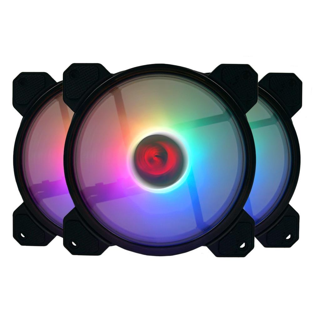 Kit 3 Cooler FAN Redragon, 360mm, RGB - GC-F009