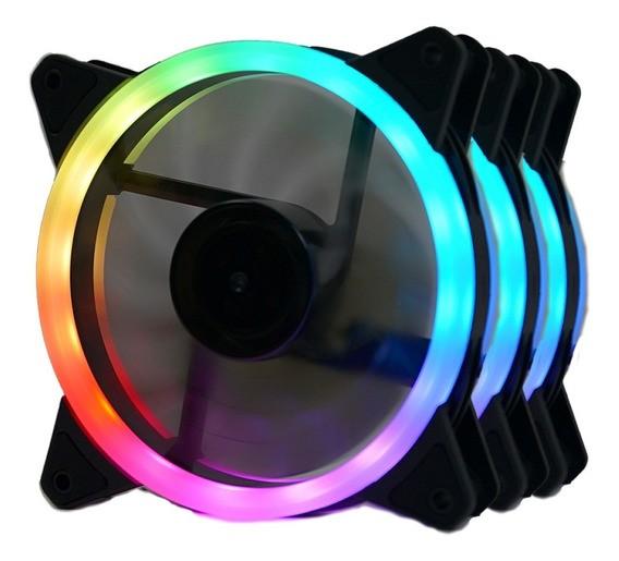 Kit Fan com 3 Unidades Redragon GC-F011, RGB, 120mm, GC-F011