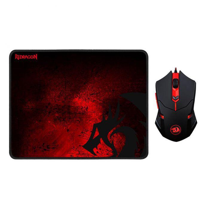 Kit Gamer Centrophorus + Mousepad (M601BA) Redragon
