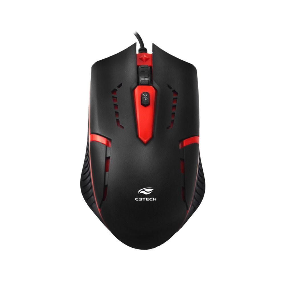 Kit Teclado e Mouse Gamer C3Tech ABNT2 1200DPI - GK-20BK