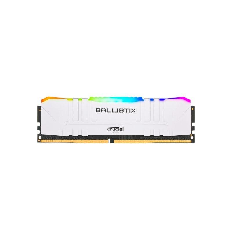 Memoria Ballistix 8gb Ddr4 3000mhz RGB Branca - Bl8g30c15u4wl