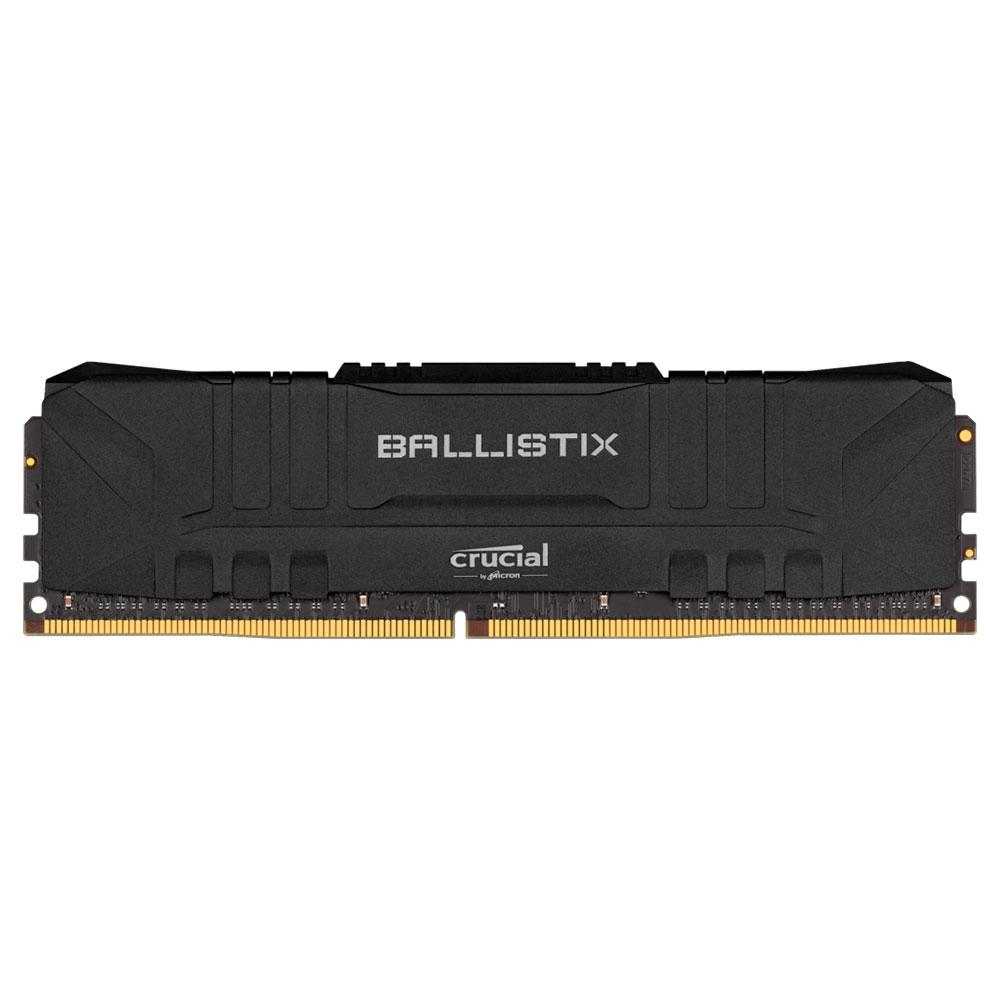 Memória Crucial Ballistix 8GB DDR4 3000 Mhz, CL15, Preto - BL8G30C15U4B