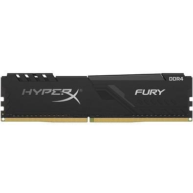 Memória HyperX Fury, 8GB, 2400MHz, DDR4, CL15, Preto - HX42AC15FB3/8