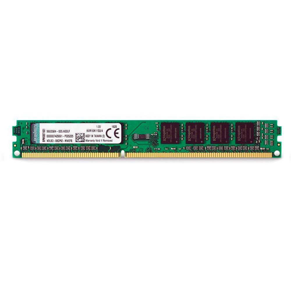 Memória Kingston 4GB, 1600MHz, DDR3, CL11 - KVR16N11S8/4