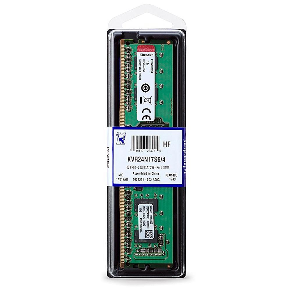 Memoria Kingston de 4GB 2400MHZ DDR4
