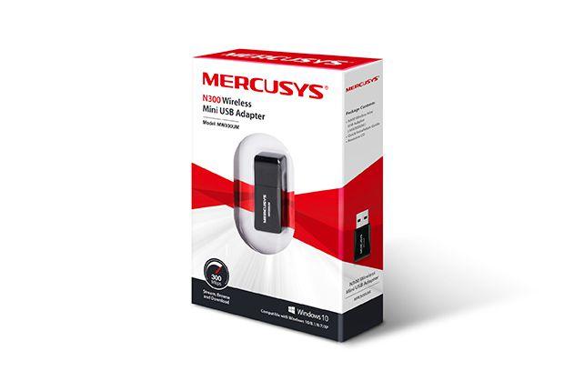 Mini Adaptador Mercusys USB Wireless MW300UM