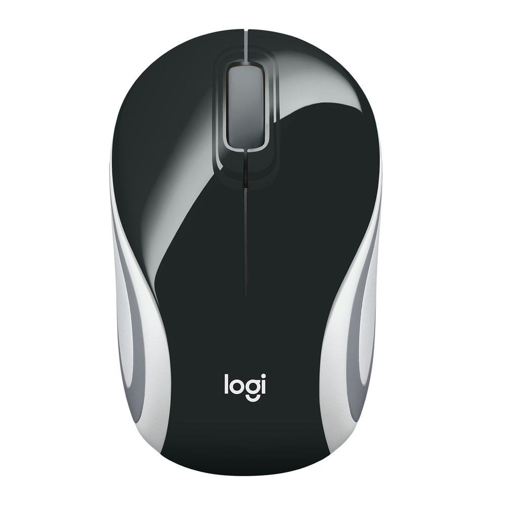 Mini Mouse Logitech M187 Sem Fio Preto 1000DPI - 910-005459