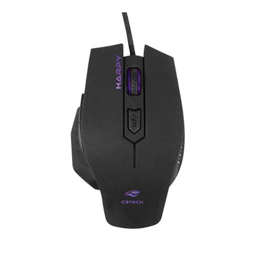 Mouse Gamer C3 Tech Harpy 3200DPI com Iluminação Preto MG-100BK