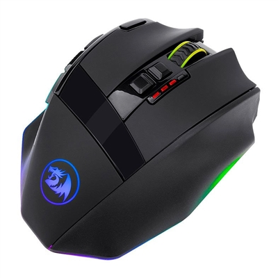 Mouse Gamer Redragon Sniper Pro 16000 DPI, Wireless, 9 Botões Programáveis - M801P Rgb