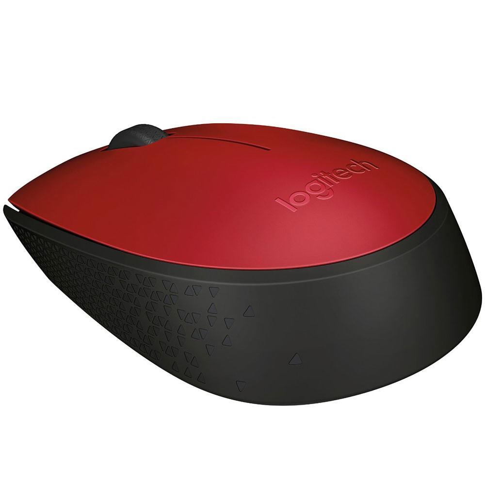 Mouse Logitech M170 Sem Fio Vermelho e Preto - 910-004941