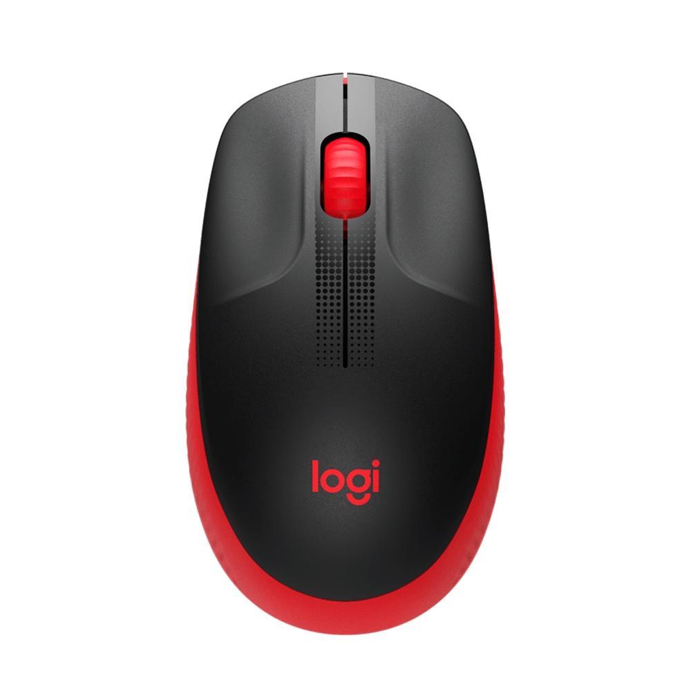 Mouse Logitech M190 Sem fio Vermelho